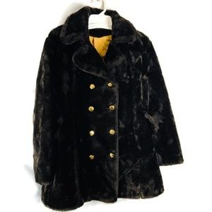 Vintage Faux Fur Brown Teddy Bear Union Made Coat